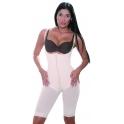 Gaine de remodelage seins libres à pantalon type corsaire